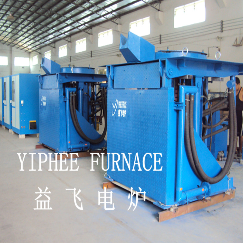 Hydraulic tilting medium frequency melting furnace