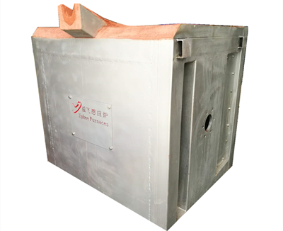 Steel shell medium frequency furnace with hydraulic tilt