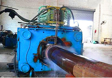 Medium frequency induction heating pipe bending equipment