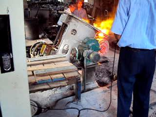 Induction coil of induction melting furnace